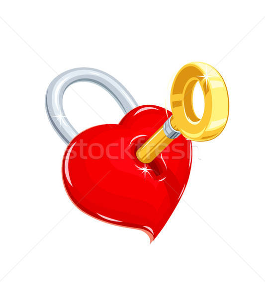 Heart and key. Symbol love for saint Valentines day ...