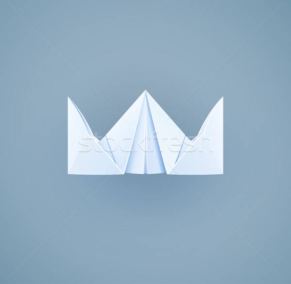 Stock photo: Paper royal crown. Handicraft toy