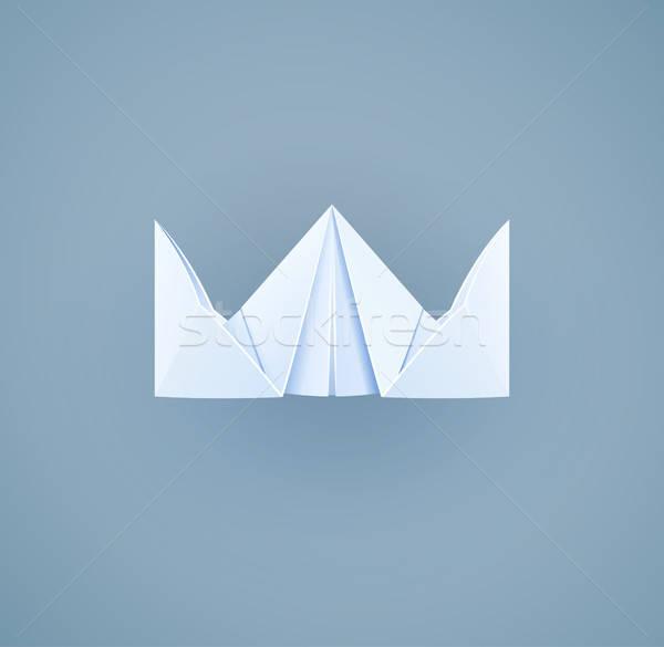 Paper royal crown. Handicraft toy Stock photo © Aleksangel