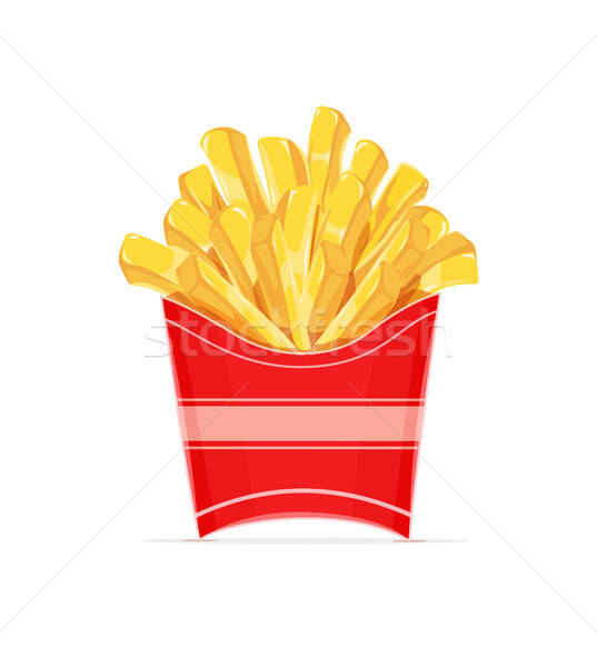 French fries potatoes in paper wrapper. Stock photo © Aleksangel