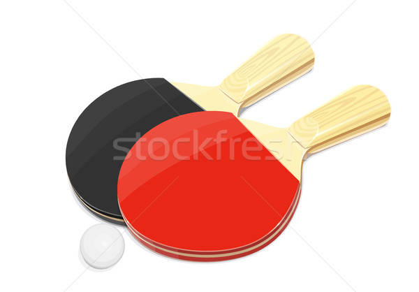 Pair of Table tennis racket and ball Stock photo © Aleksangel