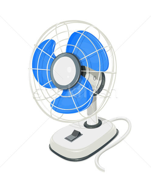 Desk air electric fan with button. Stock photo © Aleksangel