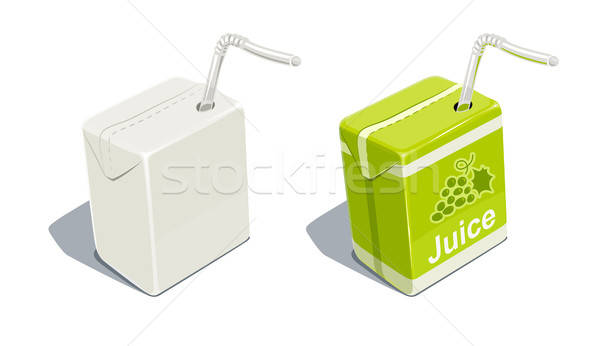 Cardboard pack with tube blank and for grapes juice  Stock photo © Aleksangel
