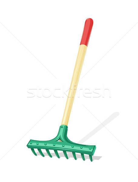 Garden rake. Agriculture tool. Stock photo © Aleksangel