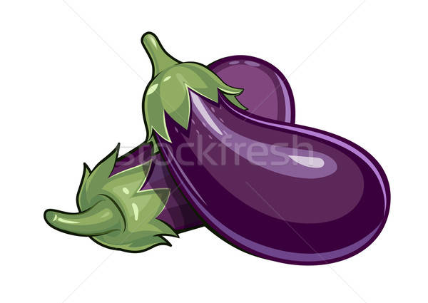 Couple of eggplants Stock photo © Aleksangel
