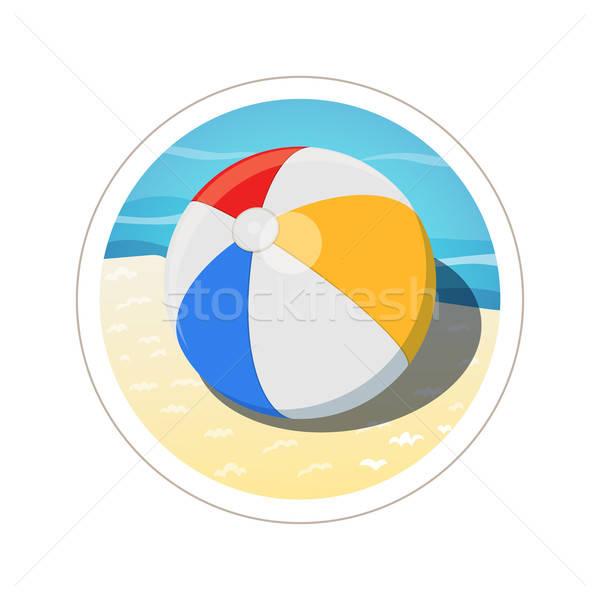 Ballon de plage eps10 isolé blanche sport sport Photo stock © Aleksangel