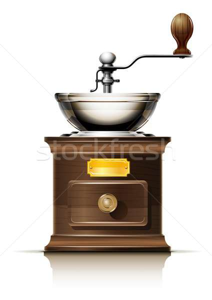 classic coffee grinder in wooden case Stock photo © Aleksangel