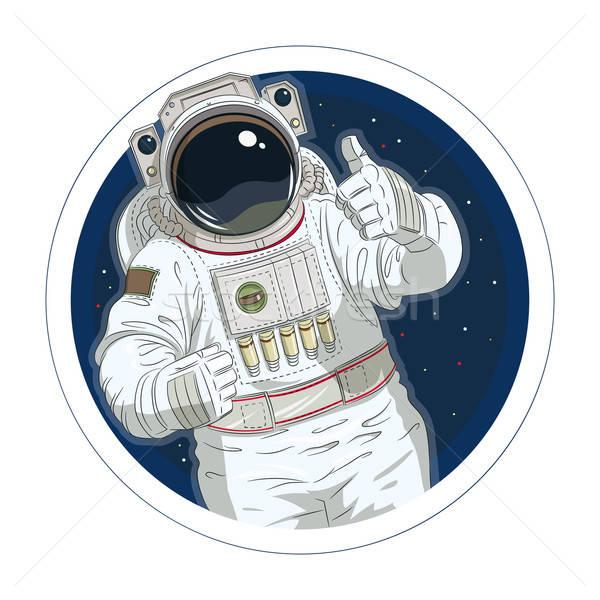 астронавт жест хорошо eps10 изолированный белый Сток-фото © Aleksangel