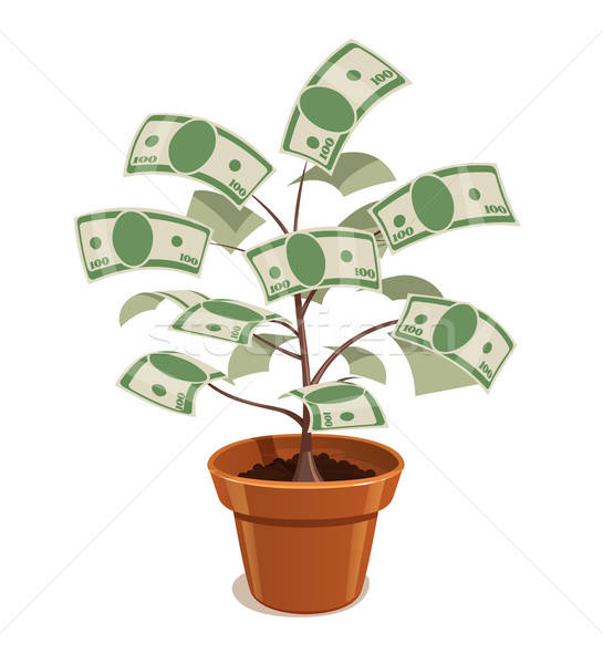 Money Tree with dollars in pot. Stock photo © Aleksangel