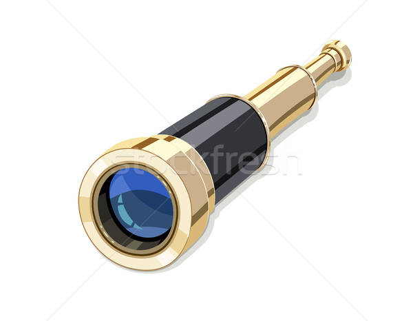 Vintage Spyglass for marine travel Stock photo © Aleksangel