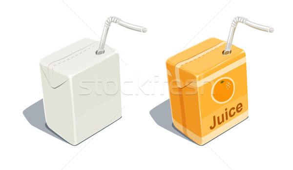 Cardboard pack with tube blank and for orange juice  Stock photo © Aleksangel