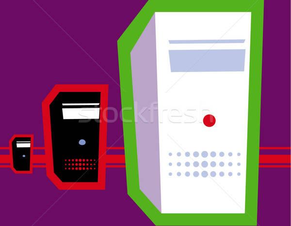 Pessoal informática olho sol teclado arte Foto stock © alekup
