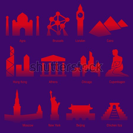 şehirler dünya şehir kentsel siluet mimari Stok fotoğraf © alekup