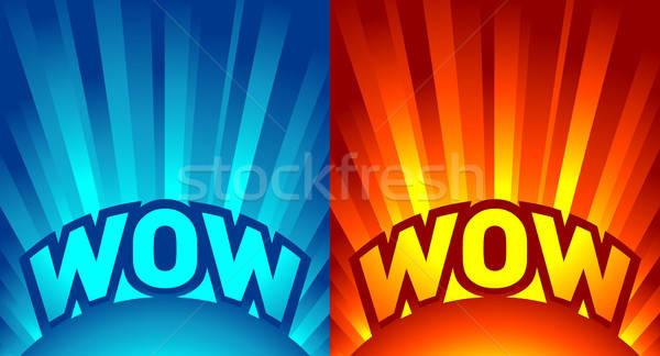 rays of light with text Stock photo © alekup