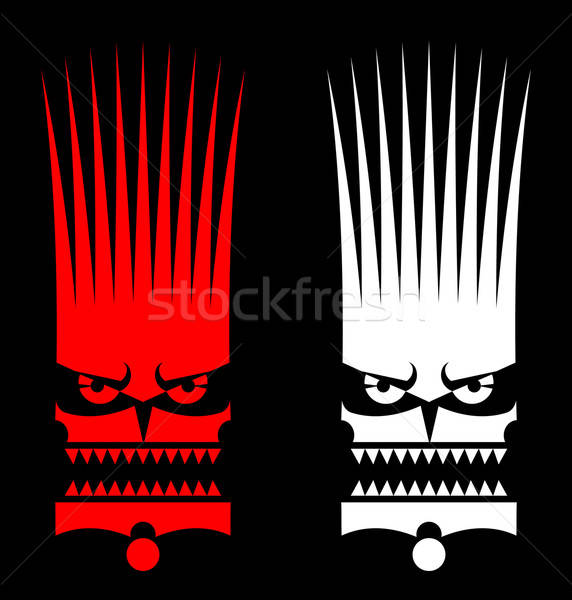 Maske adam ahşap kırmızı Afrika Stok fotoğraf © alekup