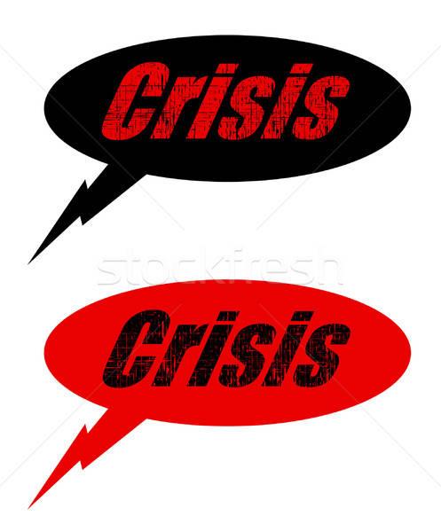 Crisis ballon kantoor wereld kunst communicatie Stockfoto © alekup