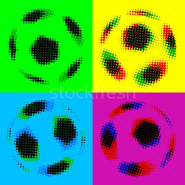 Futbol futbol sanat imzalamak mavi Stok fotoğraf © alekup