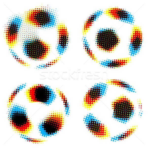 Voetbal voetbal kunst teken Blauw Stockfoto © alekup