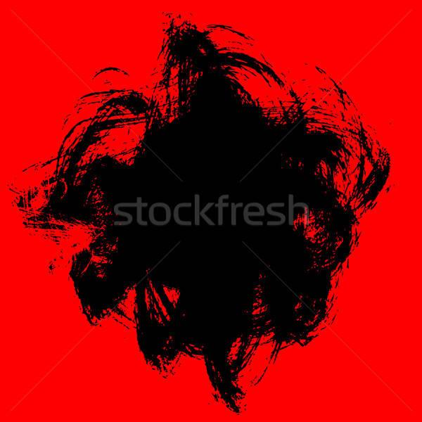 Grunge plek tekst verf borstel vuil Stockfoto © alekup