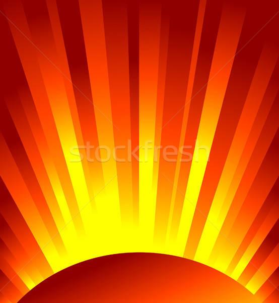 Vektör kırmızı rays ışık doku ağaç Stok fotoğraf © alekup