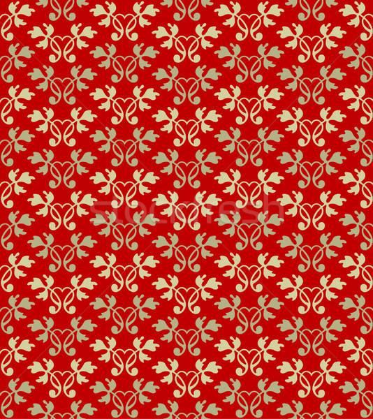 Naadloos behang ontwerp kunst Rood Stockfoto © alekup