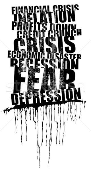 Mundo grande crise manchete negócio dinheiro Foto stock © alekup