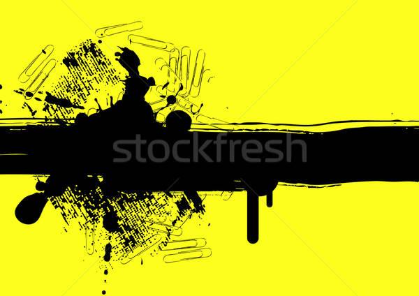 Grunge textura arte silhueta vintage padrão Foto stock © alekup