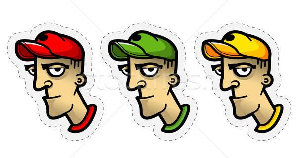 Avatar partij ogen ontwerp baseball Stockfoto © alekup