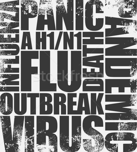 Sertés influenza főcím újság hírek fekete Stock fotó © alekup