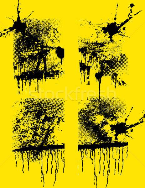 Zestaw grunge twórczej tekstury sztuki oleju Zdjęcia stock © alekup
