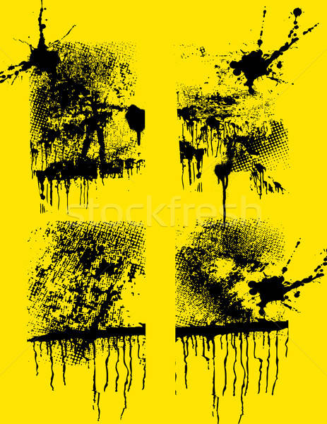 Ingesteld grunge creatieve texturen kunst olie Stockfoto © alekup