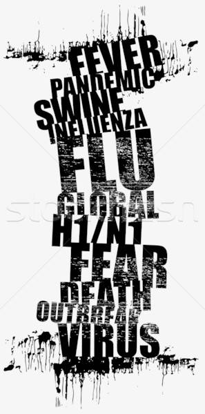 swine flu Stock photo © alekup