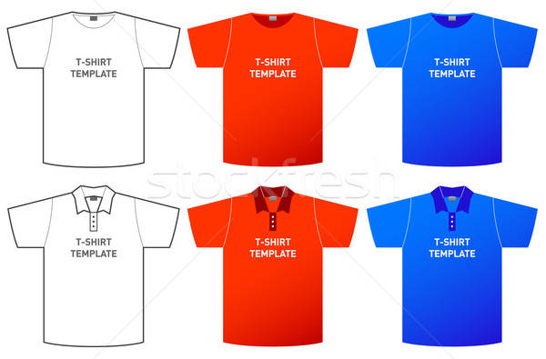 t-shirt template Stock photo © alekup