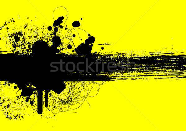 Grunge doku sanat siluet bağbozumu model Stok fotoğraf © alekup