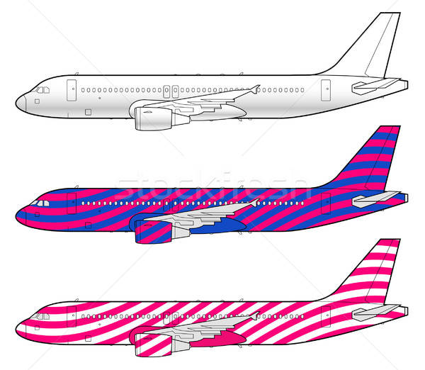 boeing aircraft template Stock photo © alekup