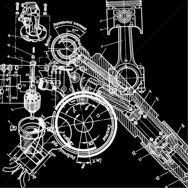 technical drawing Stock photo © alekup