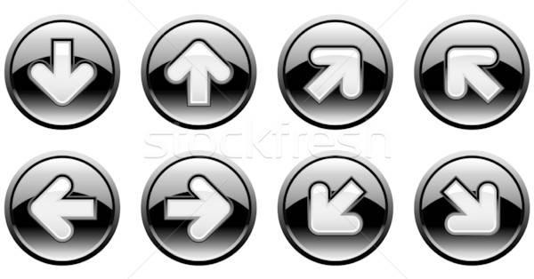 Düğmeler oklar Internet ışık dizayn renk Stok fotoğraf © alekup