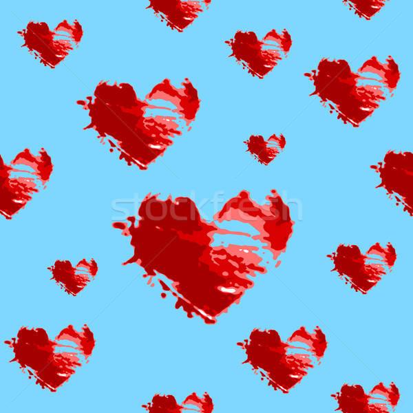 Kalpler kâğıt sevmek mutlu soyut Stok fotoğraf © alekup