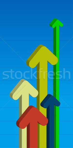 Abstrato educação cor alvo gráfico Foto stock © alekup