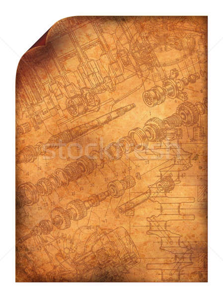 Grunge pergaminho canto livro parede Foto stock © alekup