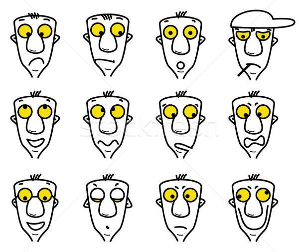 cartoon character avatars Stock photo © alekup