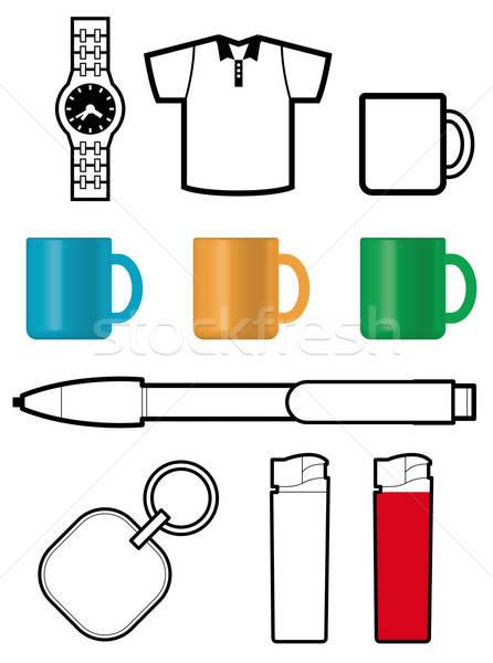 Hediye şablonları dizayn kalem alışveriş Stok fotoğraf © alekup