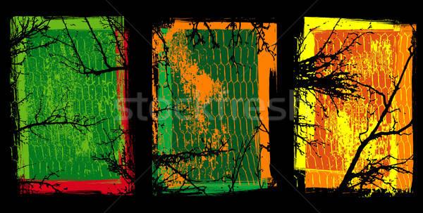 Grunge texturen bomen textuur boom landschap Stockfoto © alekup