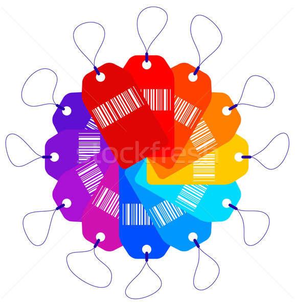 Fiyat fan pazar kart renkler Stok fotoğraf © alekup