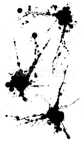three isolated blots Stock photo © alekup