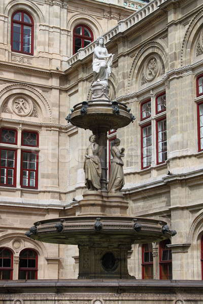 Vienne opéra maison fontaine Autriche ville Photo stock © alessandro0770