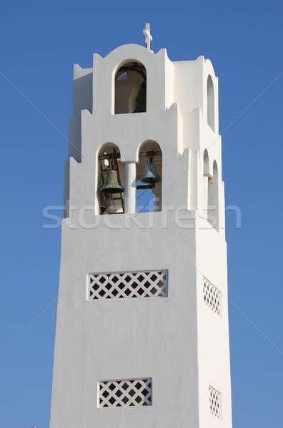 Igreja sino torre santorini ilha Grécia Foto stock © alessandro0770