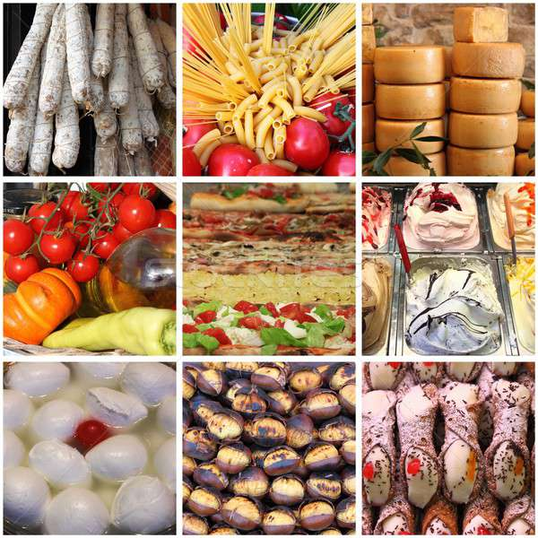 Italian food collage Stock photo © alessandro0770