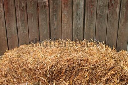 Fieno bale legno recinzione legno campo Foto d'archivio © alessandro0770