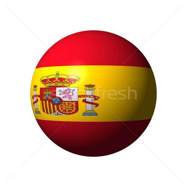 ストックフォト: 球 · フラグ · スペイン · 国家 · ボール · 赤